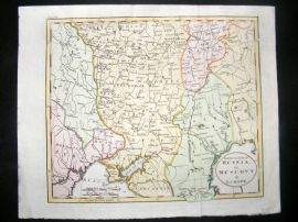 Guthrie 1798 Antique Hand Col Map. Southern Part of Russia or Muscovy